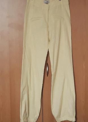 Комфортные брюки-шаровары лимонного цвета