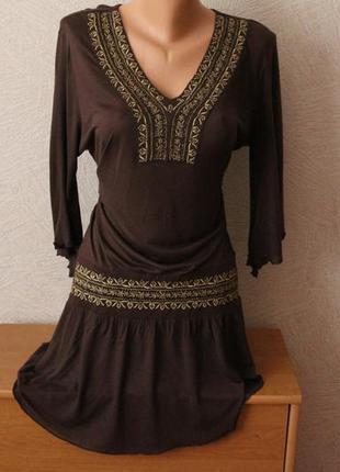 Avant-premiere! платье, туника в этно стиле, франция, р.m-l. оригинал