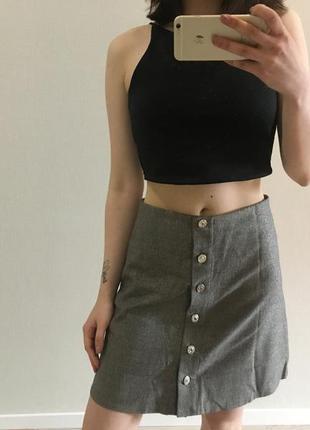 Серая юбка с блестками