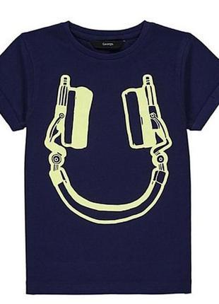 Новая футболка темно-синяя меломан, george, 6012150