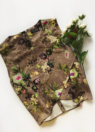Блуза майка стильний принт та крій яскрава блуза m -l