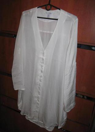 Платье-рубашка под шелк  белое