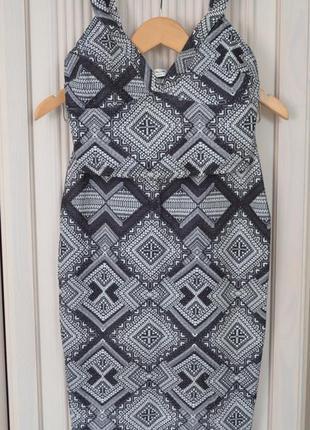 Топ + юбка карандаш (костюм/комплект) принт орнамент
