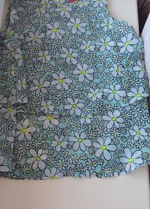 Стильная шифоновая блуза на девочку 6-7 лет