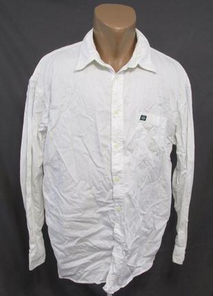 Рубашка белая dockers, xl, cotton, качественная, отл сост!