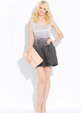 Оригинальное черное белое градиент нарядное коктейльное выпускное платье rinascimento xs-s