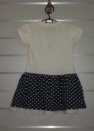 Трикотажное платье для девочки, пайетки-перевертыши, wanex  92, 98, 104, 110, 116, 122см3
