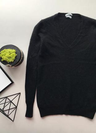 Натуральный шерстяной гольф свитер / чёрный свитер