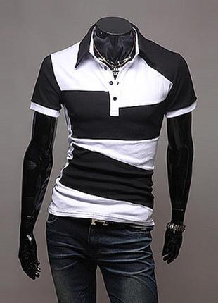 Новая трикотажная чёрно- белая  шведка с хлопка, размер м