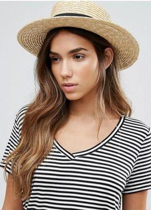 Соломенная шляпа канотье vero moda asos