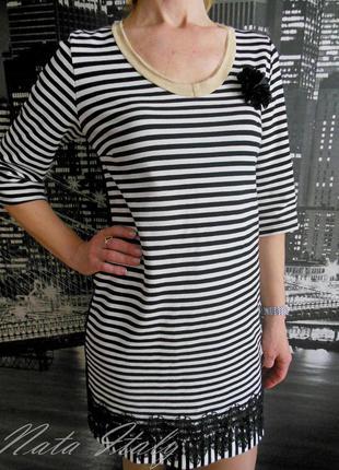 Полосатая туника - платье