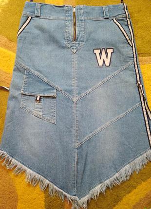 Джинсовая спортивная юбка
