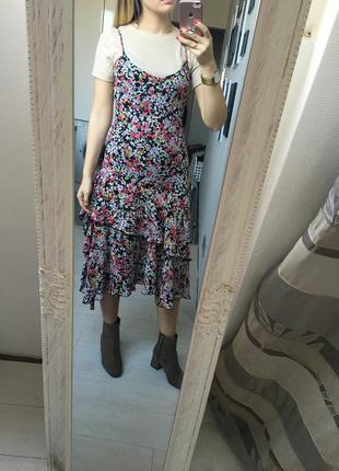 Супер платье миди в цветочек marks & spencer