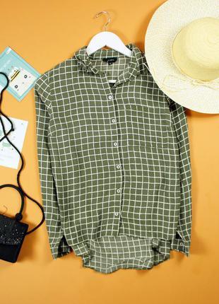 Шифоновая рубашка в клетку new look