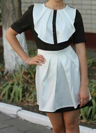 Платье школьное форма ссср с фартушком