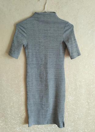 Облегающее платье в рубчик h&m