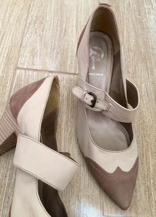 Кожаные туфли vera pelle