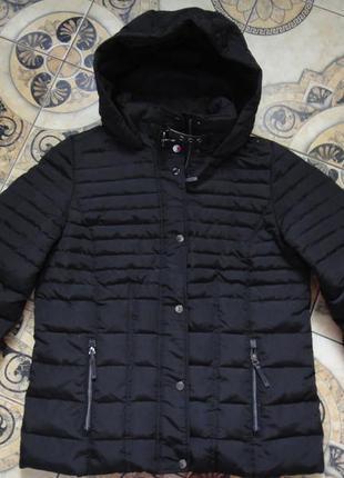Стеганая женская зимняя куртка пуховик s.oliver р. 48