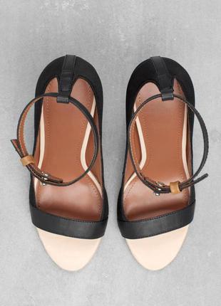 Туфли с открытым носом на тонком ремешке &otherstories 36р.