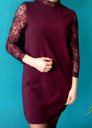 Очень красивое платье с кружевными рукавами