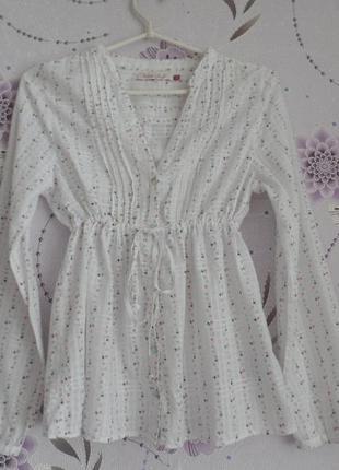 Летняя лёгкая блузка блузка 12 размер