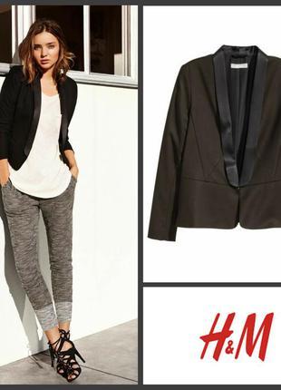 Деловой пиджак жакет смокинг 42 евро от h&m