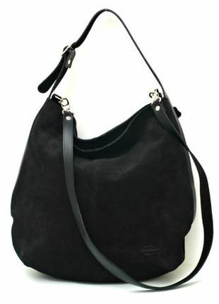 Женская замшевая сумка-мешок vera pelle