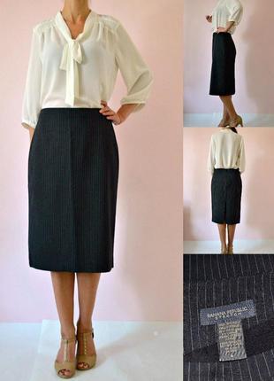 Классическая качественная юбка миди карандаш m-l