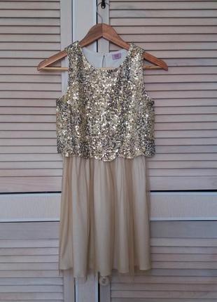 Платье с паетками f&f