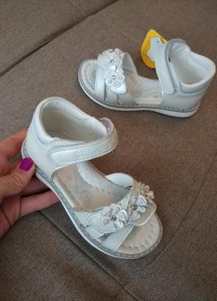 Кожанные ортопедические босоножки для девочки clibee детские сандали сланцы туфли летняя