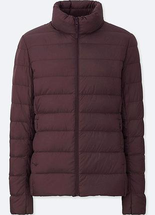 Uniqlo ультра легкая куртка пуховик на весну осень демисезонная