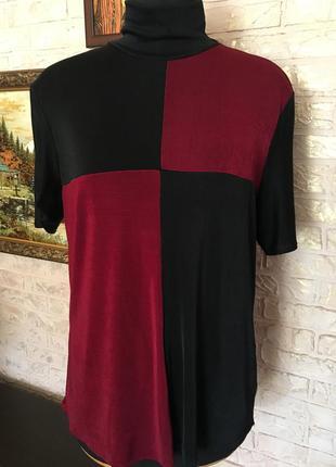 Стрейчевый гольф бордово-черный