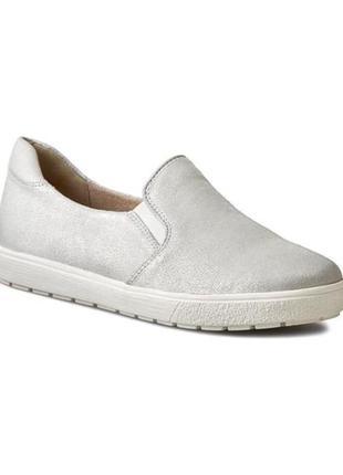 Балетки caprice слипоны натуральная кожа как слипоны zara ортопедическая обувь
