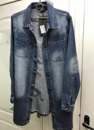 Кардиган джинсовый куртка хл-3хл