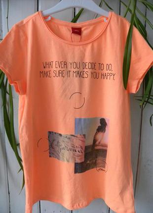 Шикарная футболочка от известного немецкого бренда s.oliver