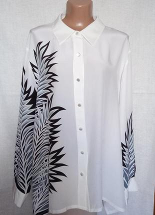 Роскошная шелковая блуза, натуральный шелк, батал