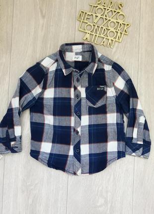 Рубашка 1,5-2 года f&f