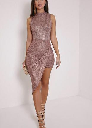 🌿 крутое платье с ассиметричным низом от prettylittlething