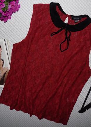 Базовая гипюровая блузочка модного цвета бургунди