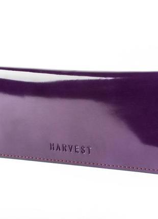 Женский кожаный кошелек-конверт violet