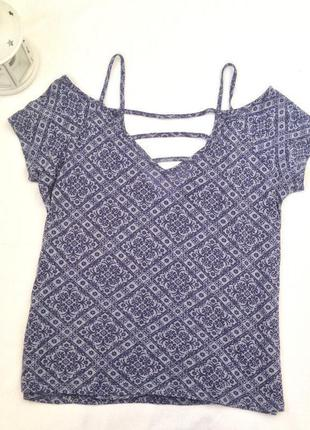 Красивая футболка с открытыми плечами\1+1=3