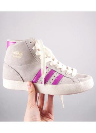 Серые замшевые кросовки adidas basket profi, размер 36