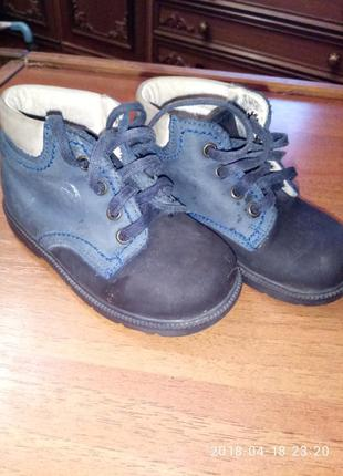 Замшевые демисезонные ботинки richter размер 21
