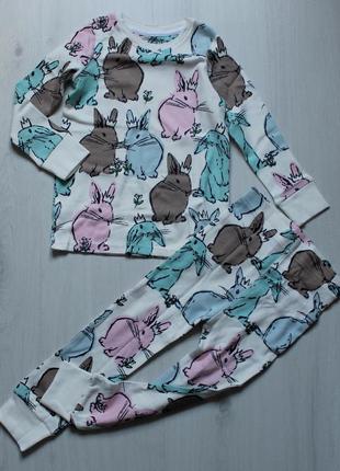 Пижама next на 2-3 года (92-98см) с кроликами