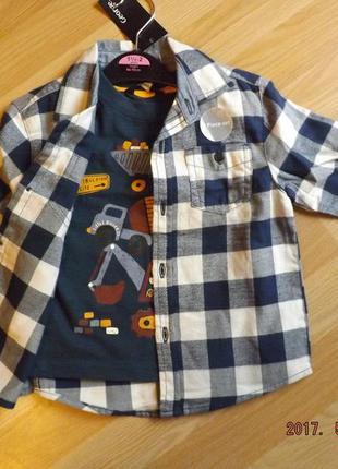 Комплект на мальчика 1,5-2 года,рубашка футболка. george. англия.