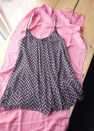 Лёгкий воздушный сарафан (платье) zara с открытой спинкой.