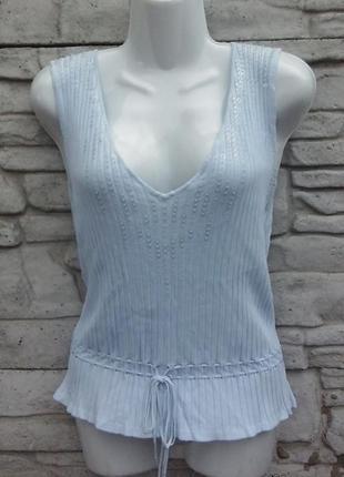 Распродажа!!! красивая, трикотажная блуза голубого цвета planet