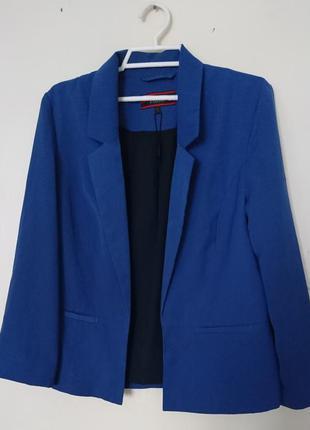 Легкий повседневный модный трендовый синий пиджак жакет от next размер s