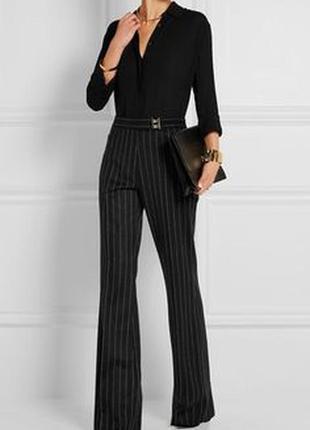 Классические чёрные брюки в полоску m h&m