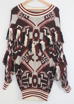 Необычный свитер zara, 100 % хлопок